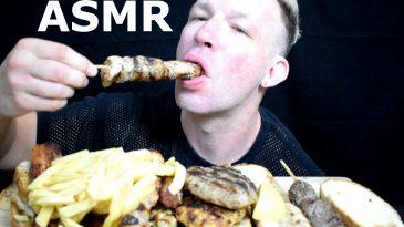 ASMR-EATING-GREEK-STREET-FOOD-SOUVLAKI-MPIFTEKI-STUFFED-MPIFTEKI-CHEESE-CHICKEN-SOUVLAKI-PANSETA-CHICKEN-MPIFTEKI-BURGER-FRENCH-FRIES-BINGE-MUKBANG-NO-TALKING-1