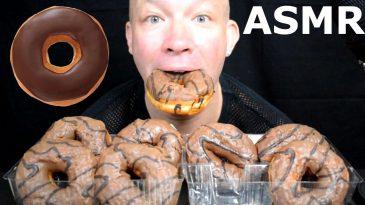 CHOCOLATE-COVERED-STUFFED-DONUTS-ASMR-MUKBANG-BINGE-SHOW-DESERT-NO-TALKING-1