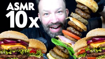 10FOLD BURGER ASMR BUKBANG 3000KCAL MAKING AND EATING SOUNDS SHOW-NO TALKINKG FINAL-1-LOW