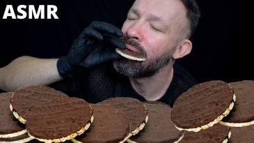 CHOCOLATE RICECAKES ASMR MUKBANG EXTREMELY CRUNCHY AND PLEASURE SOUNDS NO TALKING-1